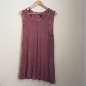 Style&Co Distressed Dress in Pink Size Large